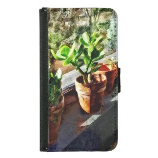 Jade Plants in Greenhouse Samsung Galaxy S5 Wallet Case
