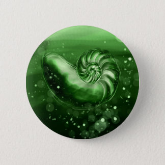 Jade Seashell 2 Inch Round Button