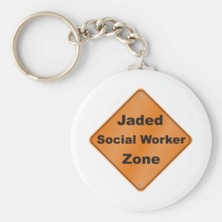 Jaded Social Worker Keychain