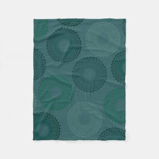Jaded Teal Lace Doily Fleece Blanket
