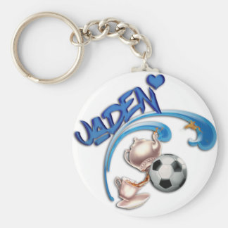 Jaden Basic Round Button Keychain