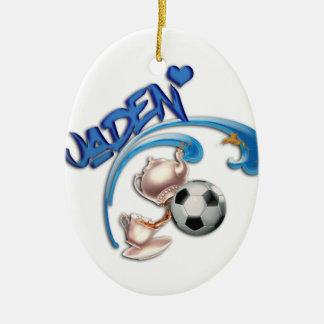 Jaden Ceramic Oval Ornament