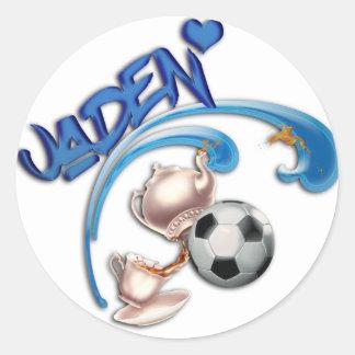 Jaden Classic Round Sticker