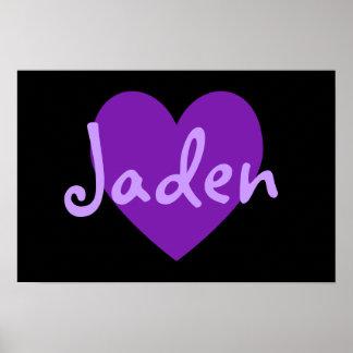 Jaden in Purple Poster