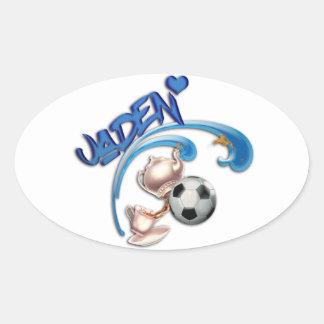 Jaden Oval Sticker