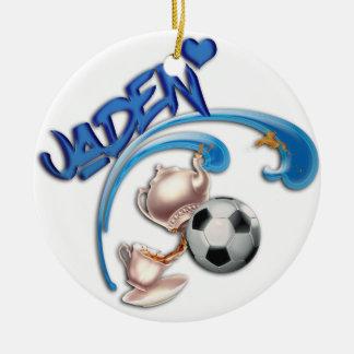 Jaden Round Ceramic Ornament
