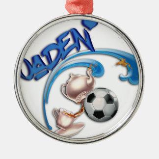 Jaden Silver-Colored Round Ornament
