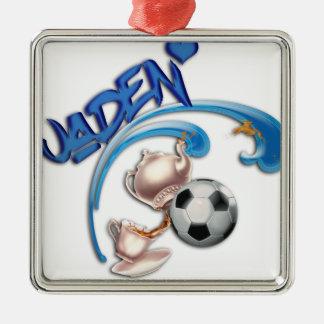 Jaden Silver-Colored Square Ornament