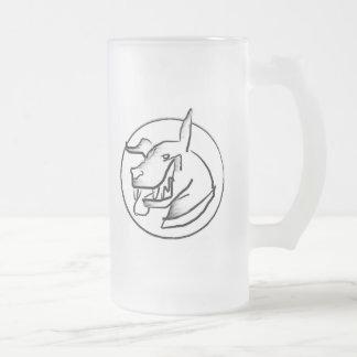 JADER frosty Frosted Glass Beer Mug