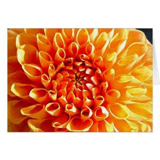 J'adore des dahlias, mon cher chouchou carte de vœux