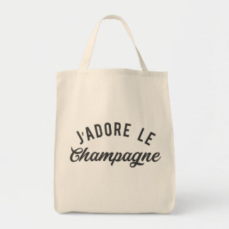 J'ADORE LE CHAMPAGNE TOTE BAG