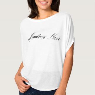 Jadore Noir Tunic White shirt w/ black letters