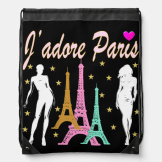 J'ADORE PARIS EIFFEL TOWER DESIGN BACKPACK
