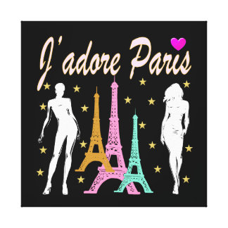 J'ADORE PARIS EIFFEL TOWER DESIGN CANVAS PRINT