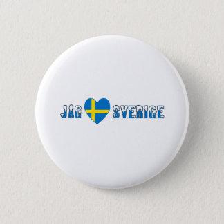 Jag Kärlek Sverige 2 Inch Round Button