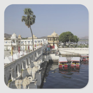 Jag Mindar Palace, Lake Pichola, Udaipur, India. Square Sticker