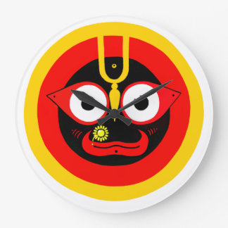 "jagannatha ""Lord of the Universe"" Wall Clock"