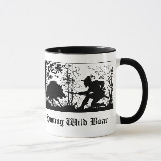 Jagd auf Wildschwein / Hunting Wild Boar German Mug