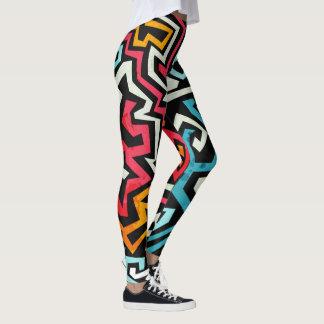 Jagged Graffiti Leggings
