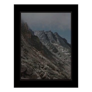 Jagged Longs Peak Trail (no text) Poster
