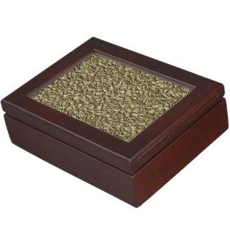 jagged stone golden keepsake box