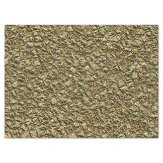 jagged stone golden tissue paper