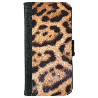 Jaguar Animal Pattern Faux Fur iPhone 6 Wallet Case