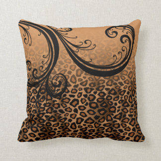 Jaguar Animal Print | Brown Throw Pillow