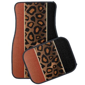 Jaguar Animal Print | Burnt Orange | Personalize Floor Mat