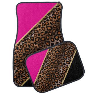 Jaguar Animal Print | Hot Pink | Personalize Car Floor Carpet