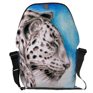 Jaguar Art Messenger Bag