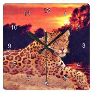 Jaguar at Tikal Wildlife Wall Clock