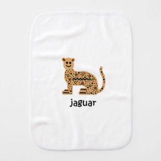 Jaguar Baby Burp Cloths