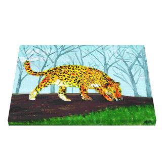 Jaguar Big Cat Art Canvas Print