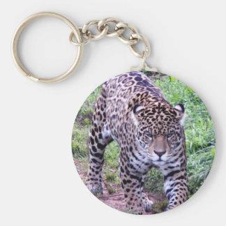 Jaguar Cat Pattern Animal Safari Jungle Art Nature Keychain