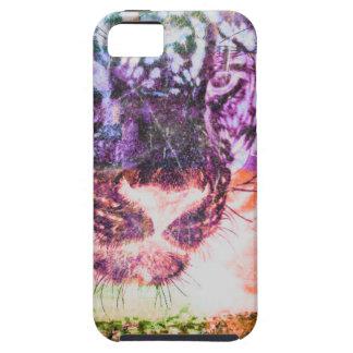 Jaguar cat rainbow art print case for the iPhone 5