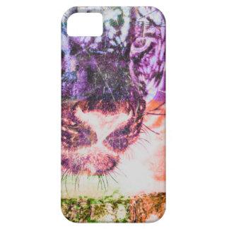 Jaguar cat rainbow art print iPhone 5 cover