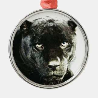 Jaguar Eyes Metal Ornament