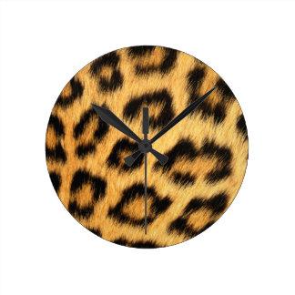 Jaguar Fur 2 Round Clock