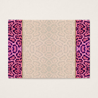 Jaguar Fur in Pink and Purple Business Card