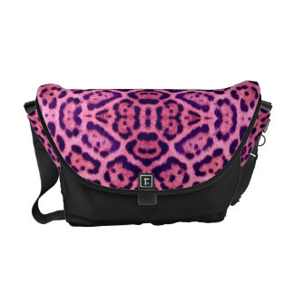 Jaguar Fur in Pink and Purple Courier Bag
