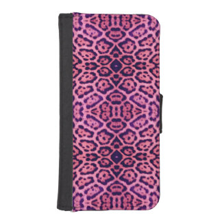 Jaguar Fur in Pink and Purple iPhone SE/5/5s Wallet Case