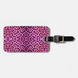 Jaguar Fur in Pink and Purple Luggage Tag