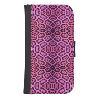 Jaguar Fur in Pink and Purple Samsung S4 Wallet Case