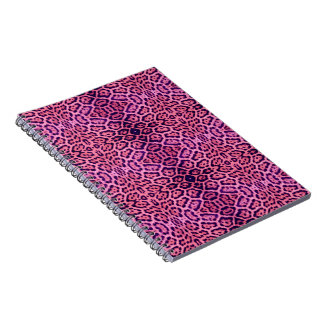 Jaguar Fur in Pink and Purple Spiral Notebook