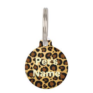 Jaguar Fur Pattern Round_Pet_Tags Pet ID Tags
