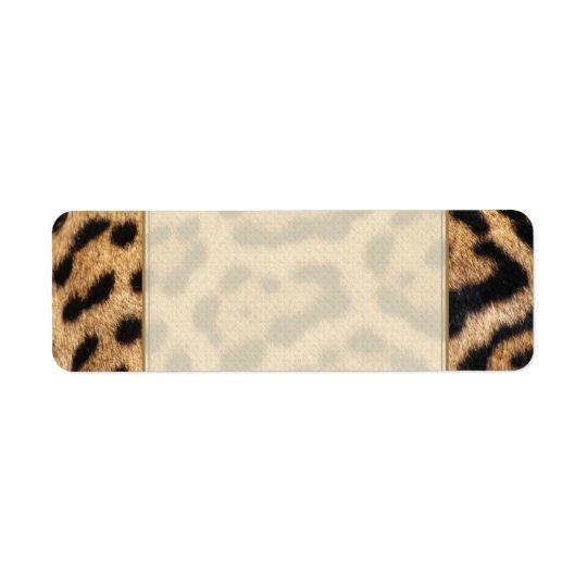 Jaguar Fur Photo Print Return Address Label