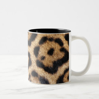 Jaguar Fur Photo Print Two-Tone Coffee Mug