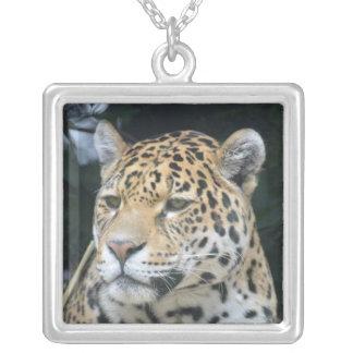Jaguar Glare Silver Plated Necklace
