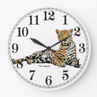 Jaguar image for Round Wall Clock